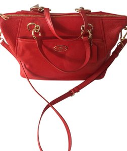 Coach Satchel in Coral red