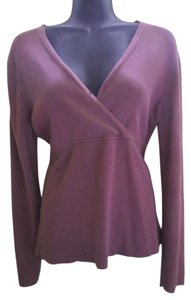 Ann Taylor LOFT Mulberry Crossover Sweater