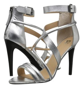 JOE'S Jeans Metallic Silver Sandals