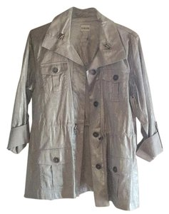Chico's Grey silver Jacket