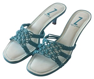 Sergio Zelcer Turquoise Sandals