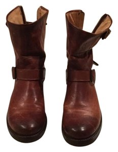 Frye Brown Distressed Leather Boots