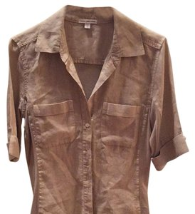 James Perse Button Down Shirt Sand