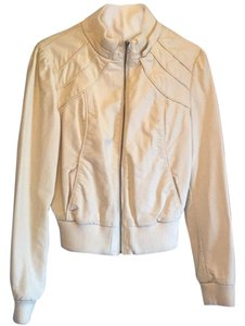 Forever 21 Cream Leather Jacket
