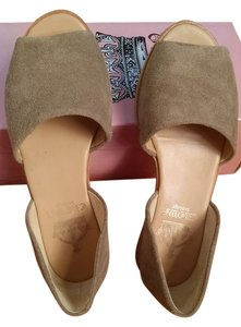 Crown Vintage 2-piece Sandal Suede Leather Taupe Flats