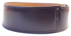Hermès #7286 For Large buckle 42mm H black brow on gold Reversible Belt