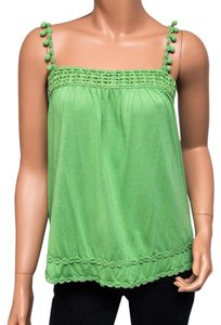 Juicy Couture Petite Modal Cotton Crochet Top Green