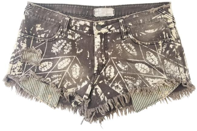 Item - Grey Tribal Bleached Distressed Shorts Size 10 (M, 31)