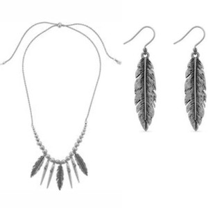 Lucky Brand FEATHER JEWELRY SET
