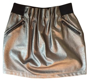 Arden B. Mini Skirt Gold & black