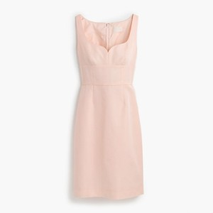J.Crew Shell Pink Mae Classic Faille Dress