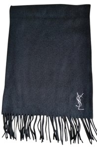 Saint Laurent Saint Laurent Black monogrammed Scarf