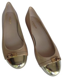 Coach Asos Chanel Top Shop gold tone Flats