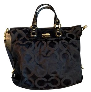 Coach Any Time No. G0869-12963 Satchel in Black & Gold