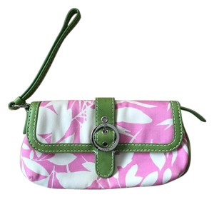 Rafe Preppy Lilly Summer Pink / Green / Ivory Clutch