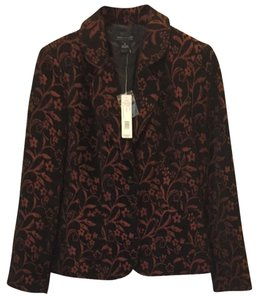 Jared Ross by August Silk Black And Burgundy Print Blazer