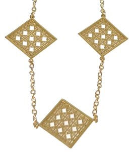 Tory Burch TORY BURCH Perforated Logo Rosary Necklace