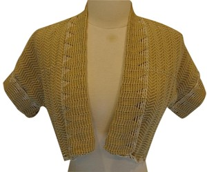 Anthropologie Shrug Cardigan Metallic Sweater