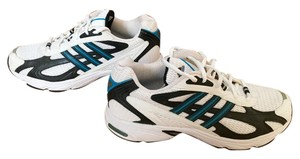 adidas White and Turquoise Athletic