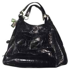 Coach Leather Crocodile Shoulder Bag