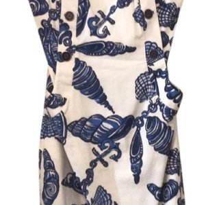 Lilly Pulitzer Strapless Summer Pockets Nautical Print Dress