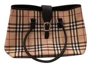 Burberry Coated Canvas Tote in Novacheck