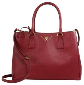 Prada Tote in Cherry (Cerise)