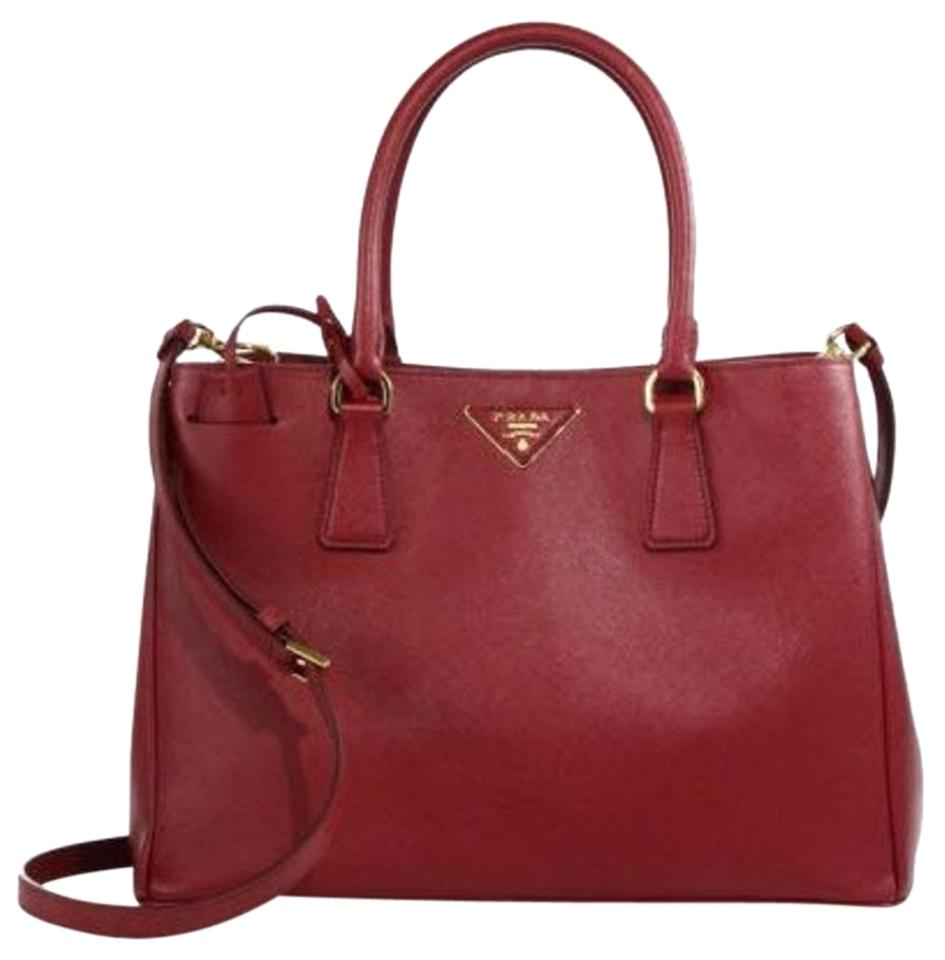 Lux Tote Gardener Saffiano Executive Leather Cherry Cerise Prada Crossbody w7pBdRwq