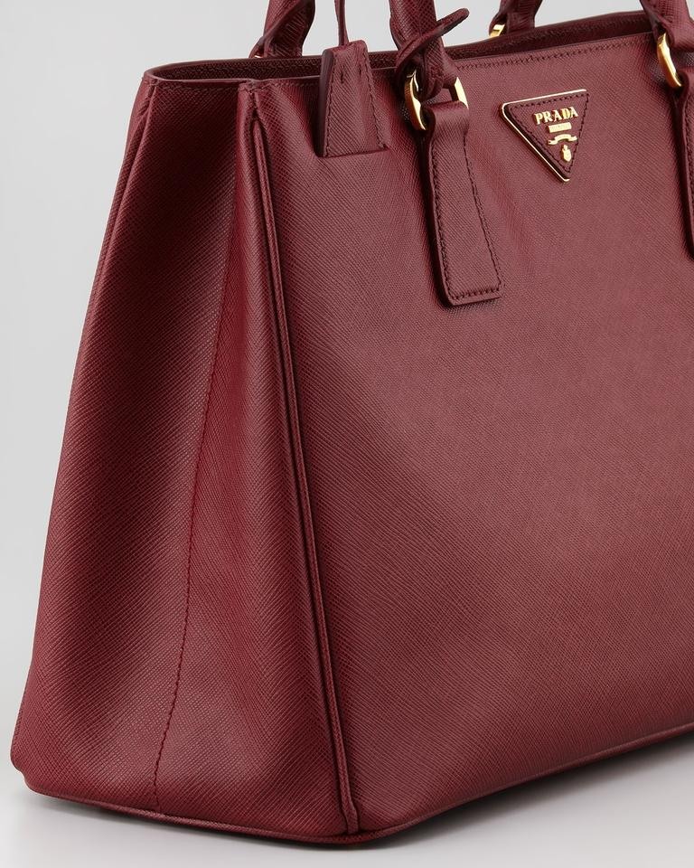 92683bb0af6e ... australia prada lux saffiano executive gardener crossbody cherry cerise  leather tote tradesy d5787 399c7