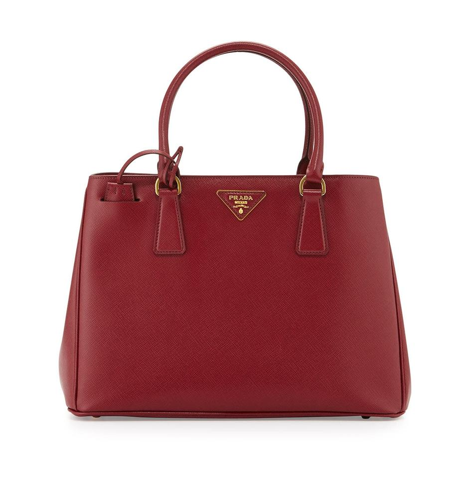 abb0293db058 Prada Lux Saffiano Executive Gardener Crossbody Cherry (Cerise ...