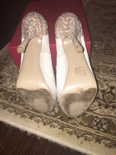 Valentino Lace Ivory Pumps