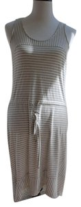 Grey and White Stripe Maxi Dress by Vince Camuto