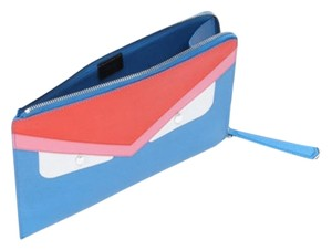 Fendi Red Blue White Multicolor Clutch