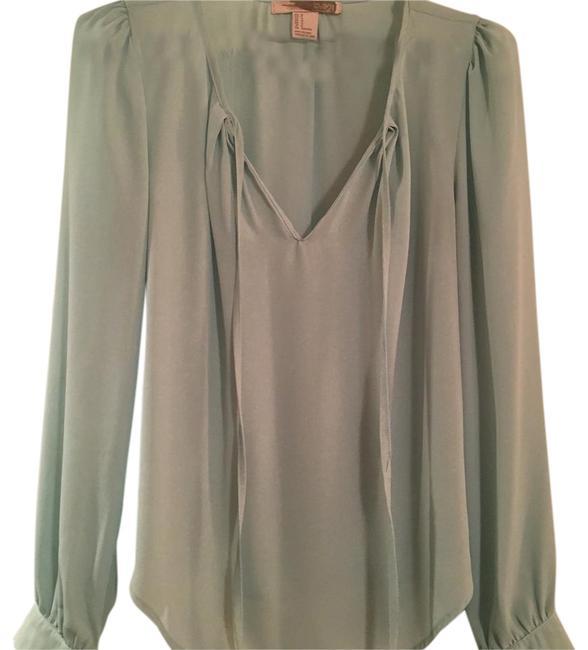 Forever 21 Blue Green Blouse Size 8 (M) Forever 21 Blue Green Blouse Size 8 (M) Image 1