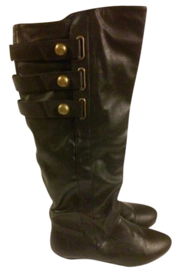Madden Hardware Girl Black with Gold Hardware Madden Boots/Booties 63fab8