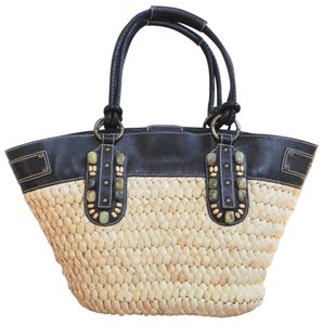 Tommy Bahama Leather Bejeweled Tote