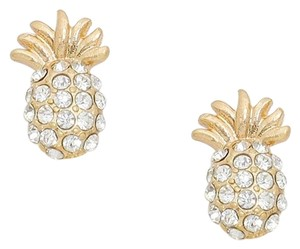 Modern Edge Crystal pave pineapple stud earrings