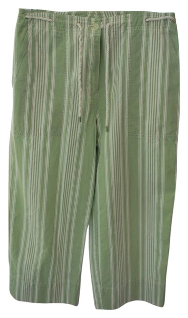 Item - Green and White Sailor Capris Size 6 (S, 28)