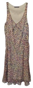 Velvet by Graham & Spencer Anthropologie Sheath Silk Cheetah Chiffon Dress