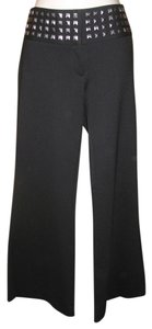 INC International Concepts Ponte Knit Cropped Studded Capri/Cropped Pants