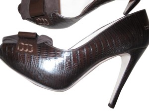 Salvatore Ferragamo Chocolate Brown Platforms