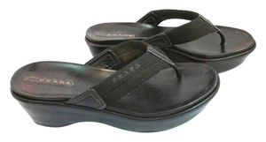 Prada Leather Sandal BLACK Sandals
