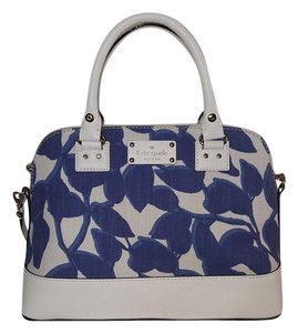 Kate Spade Rachelle Nwt Satchel in Blue/white