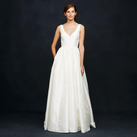 J.Crew Ivory Silk Karlie Wedding Dress Size 0 (XS) Image 0