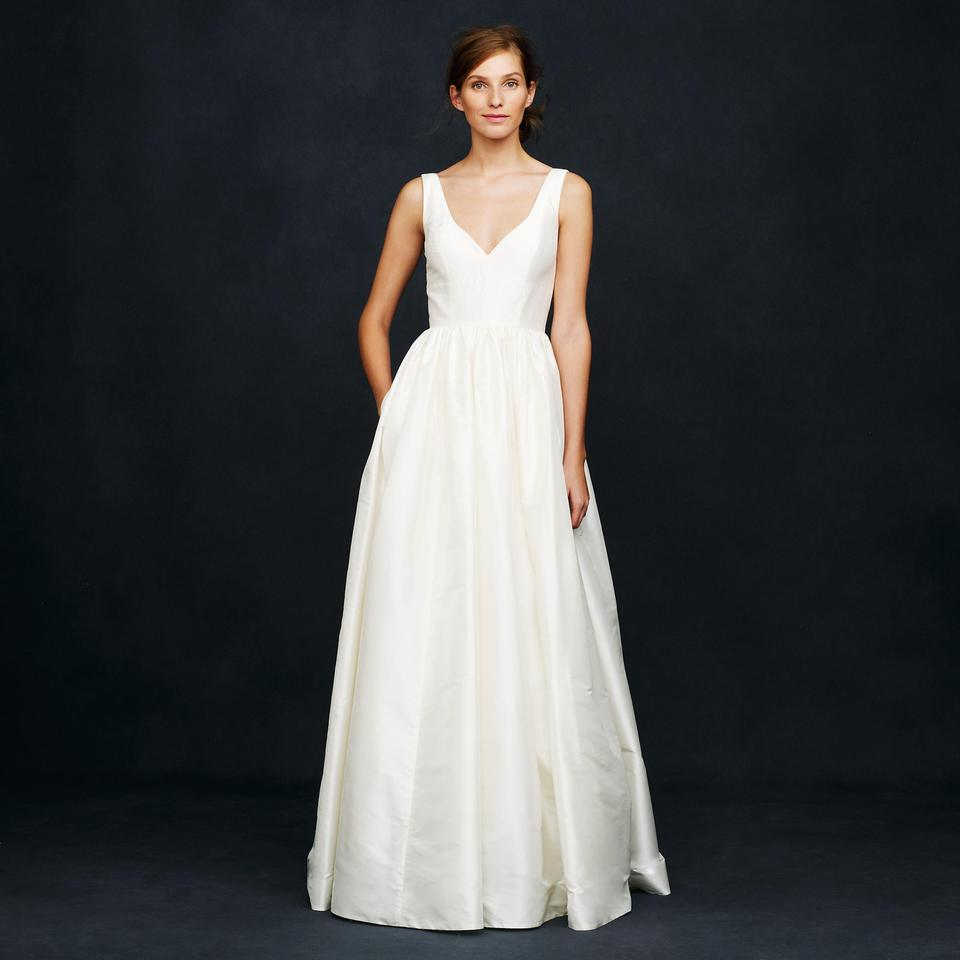 J.Crew Ivory Silk Karlie Wedding Dress Size 0 (XS) - Tradesy