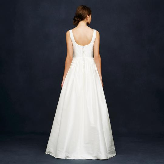 J.Crew Ivory Silk Karlie Wedding Dress Size 0 (XS) Image 2