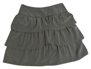 INC International Concepts Layers Tiered Mini Skirt Olive