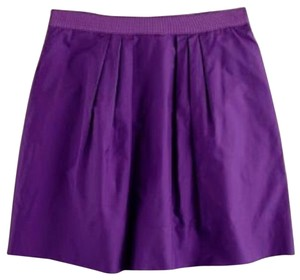 J.Crew Taffeta Mini Skirt Purple