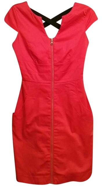 Preload https://item4.tradesy.com/images/guess-orangecoral-zipper-pockets-above-knee-workoffice-dress-size-2-xs-1701308-0-0.jpg?width=400&height=650