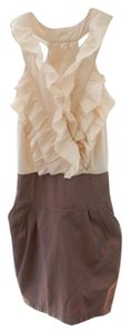 Hello Miss short dress Brown and Ivory on Tradesy